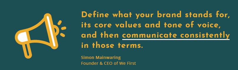 define your company's voice