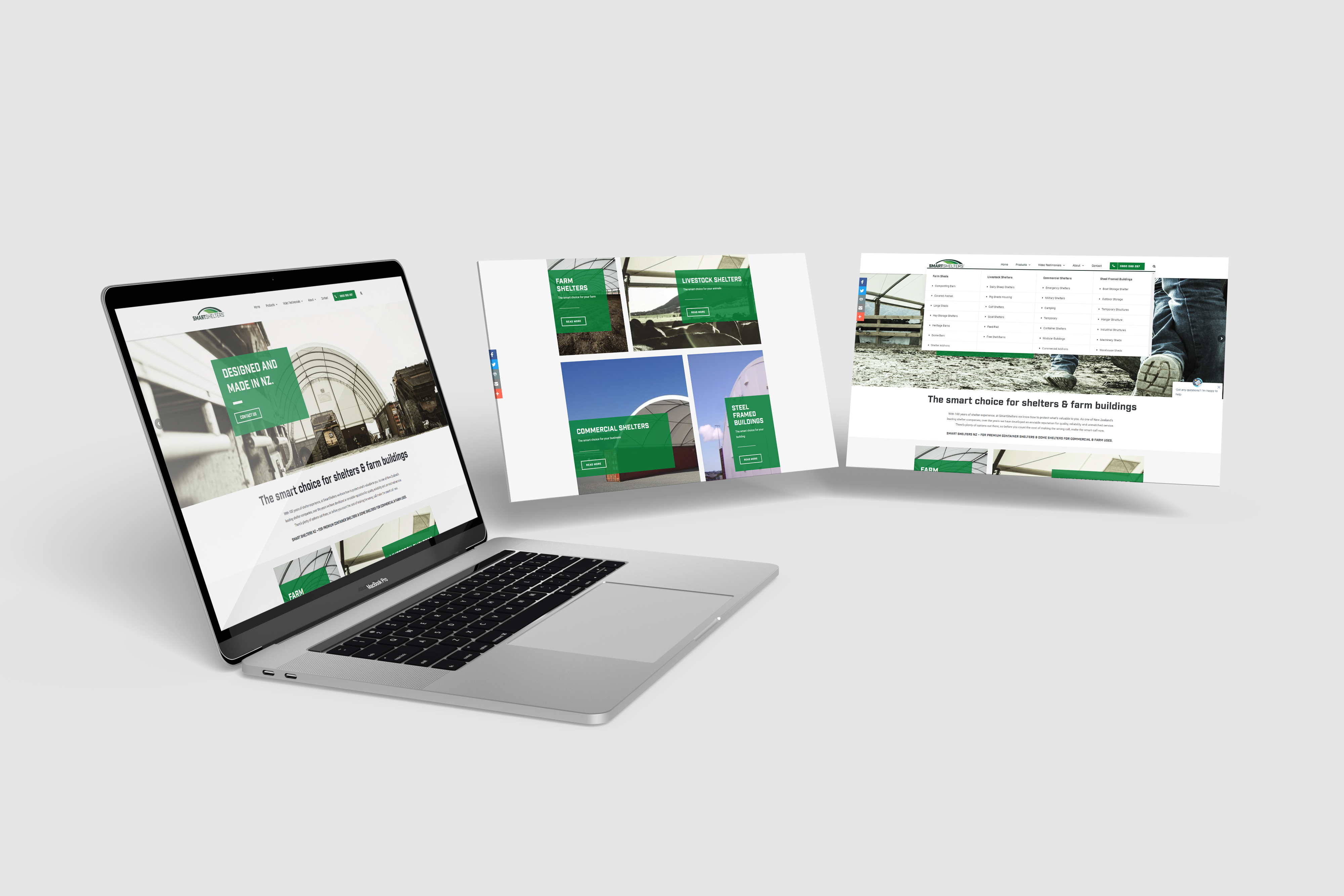 Macbook 3 screens home page smart shelters