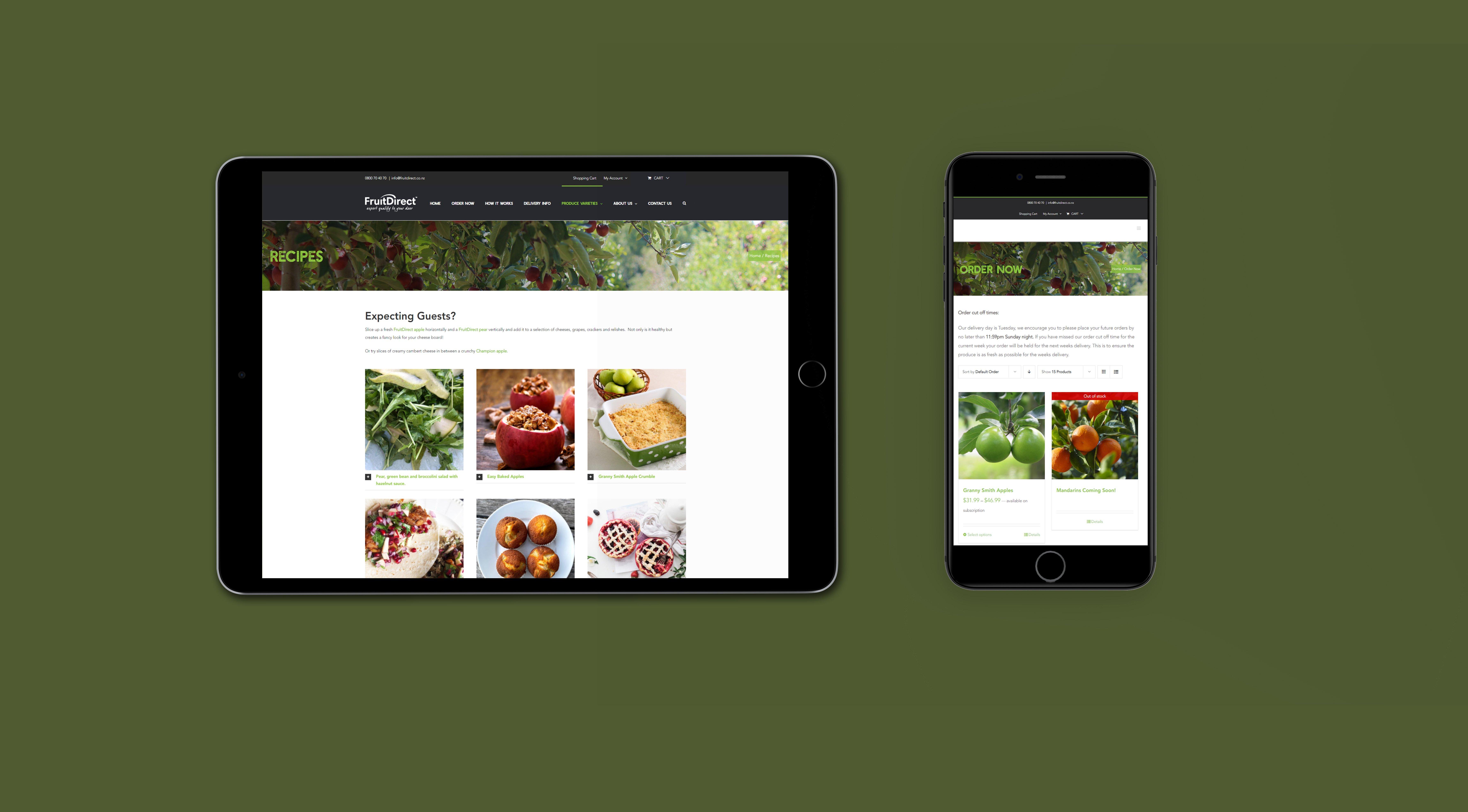 ipad - iPhone - mockup recepies and order