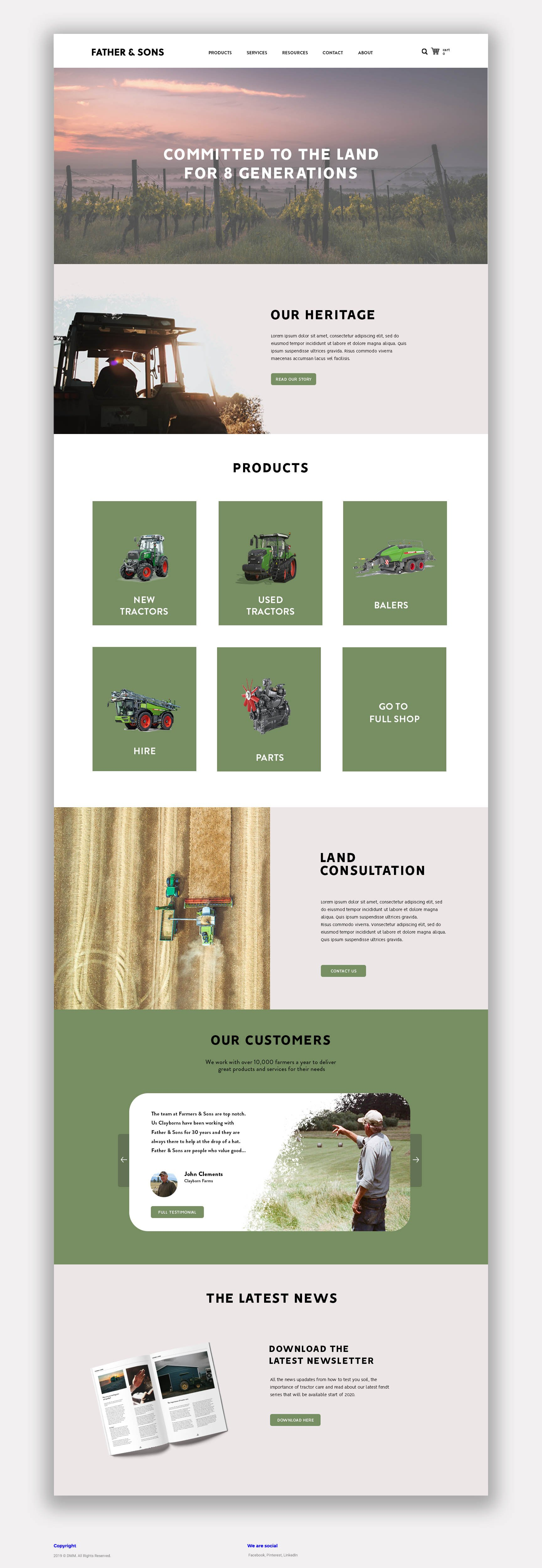 Father Sons full mock-up page