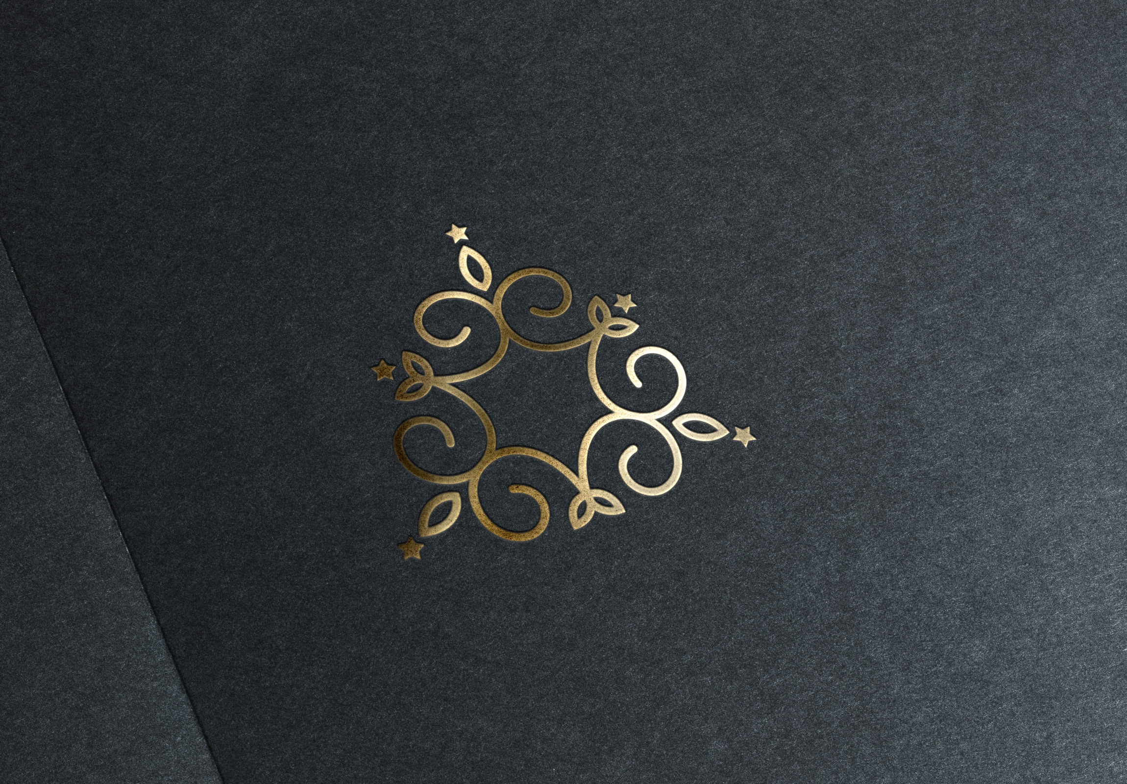 Gold Stamping Logo Mock Up